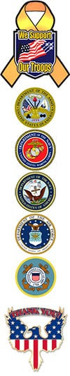 We Proudly Support All Branches Of The United States Military! Thank You For Your Service!