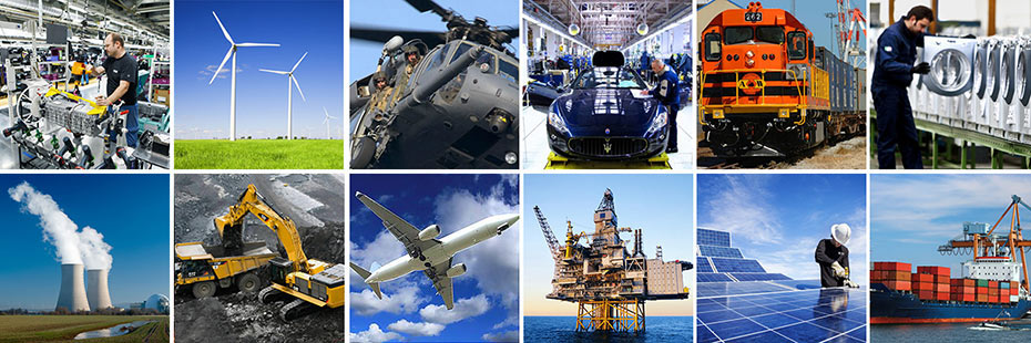 Manufacturing, Assembly, Aerospace, Construction, Oil and Gas, Shipping, Power Gen and more.